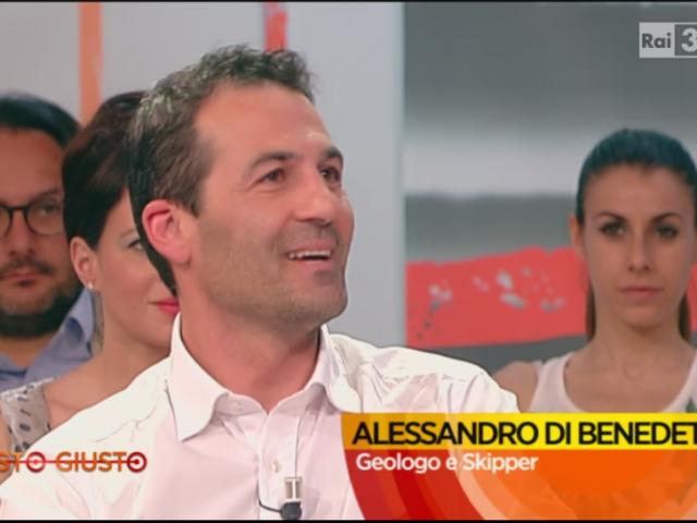 Alessandro Di Benedetto sur le plateau TV de RAI3 à Rome